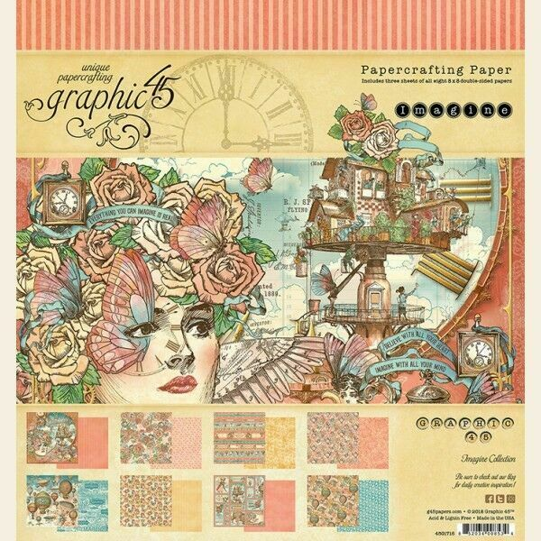 GRAPHIC 45 GPH4501871  BLOOM COLLECTION PACK 12X12