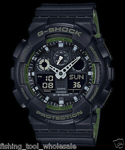 a2deeaf4485 GA-100L-1A Black G-shock Casio Watches 200m Resin Band Analog ...