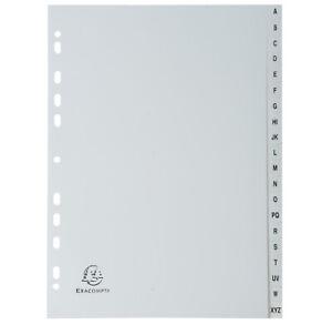 [Ref:1720E-10] EXACOMPTA Lot de 10 Intercalaires A4 Imprimés Polypropylène