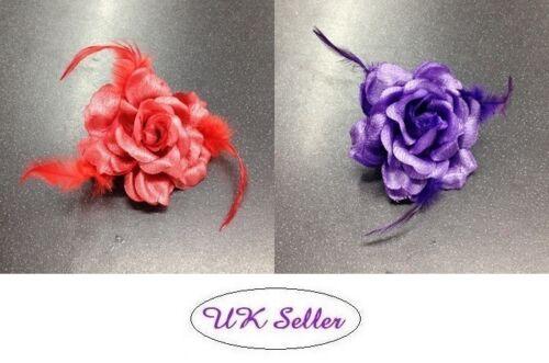 2 x Beautiful Shiny Flower Wedding Bridesmaid Party Christmas Hair Clip Brooch