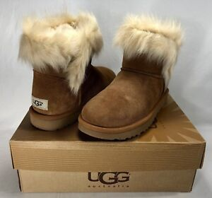 a0809750f0d Details about UGG MILLA EXPOSED FUR TOSCANA CHESTNUT SUEDE BOOTS, WOMEN'S  10, NEW IN BOX