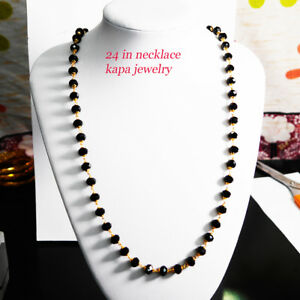 Jewellery & Watches 22k Real Looking Gold Black Beads Necklace Chain Kapa Jewelry Costume Jewellery