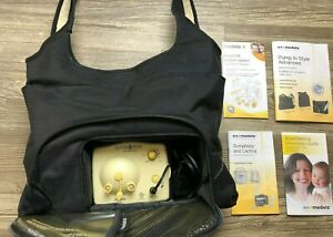 Medela Pump In Style Advanced Double Breast Pump W On The Go Tote And Booklets Ebay