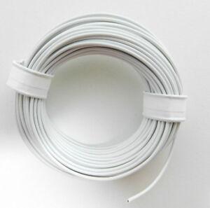 10-m-Litze-Kabel-Weiss-z-B-fuer-Maerklin-Spur-H0-Modellbahn-oder-N-TT-etc