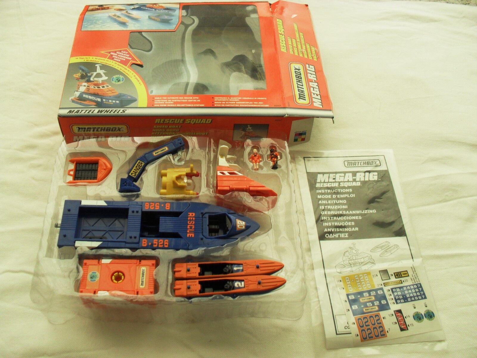 Matchbox Mega-Rig Rescue Squad Speed Boat
