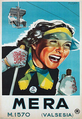 TX27 Vintage 1950/'s Winter in Italy Italian Travel Poster Re-Print A1//A2//A3