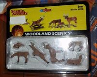 O Scale Woodland Scenics Deer Figurines A2738 Nip