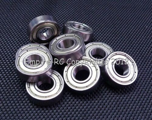 Double Metal Shielded Ball Bearing Bearings 698z 8x19x6mm 698ZZ 10 PCS