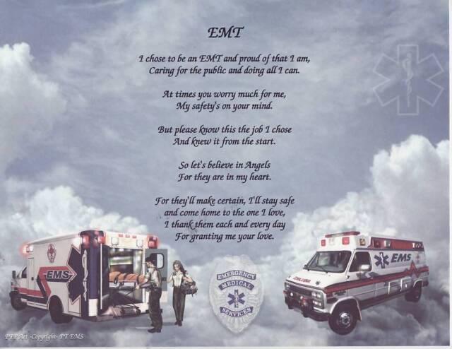 14a328ea05 EMS EMT Paramedic Mom Poem Custom Print Name for sale online | eBay