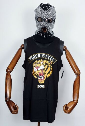Dgk Skateboards T-Shirt Tee Tank Top Tiger Style Black in L Dirty Ghetto Kids