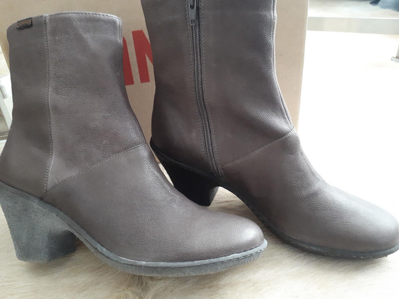 NEU  CAMPER  Stiefeletten  Leder  Stiefel  Schuhe  Gr. 41  taupe