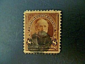 USA 1895 1st Bureau $.08 Sherman #257 Used F/VF - See Description & Images