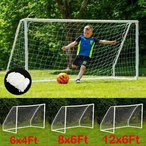 Outdoor Football Soccer Goal Post Nets Sports Training ...