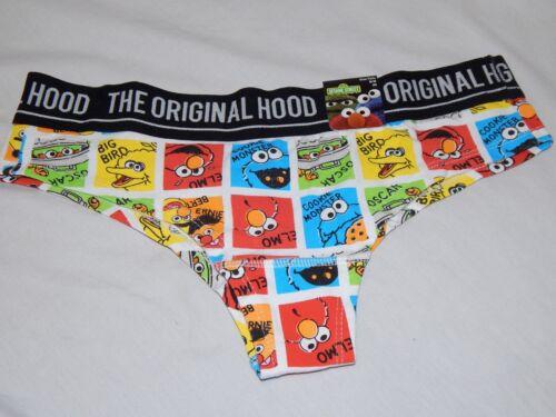 NEW Sesame Street Underwear Elmo Big Bird Cheeky Hipster Bikini Panties Women/'s