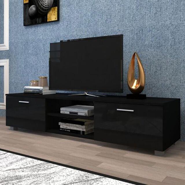 Black Glass TV Stands for sale online | eBay