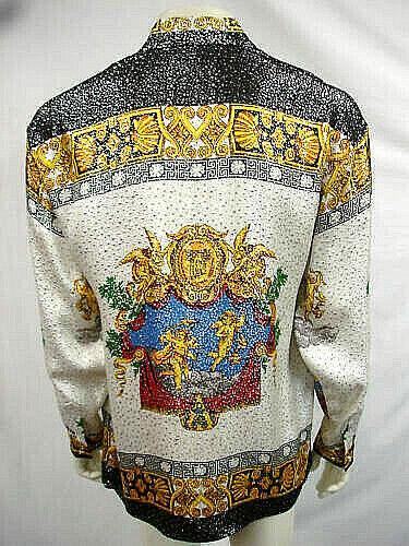 Metálico Nwt Seda Xlarge Rare Mens De Guardián Vintage Camisa 5523 Creme nwpqnTC