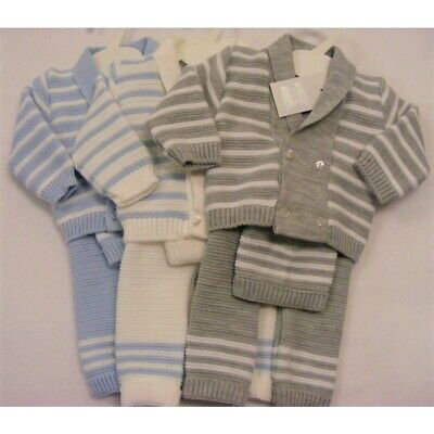 Spanish baby blue Knit set outfit 6-9 months Romany