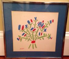 Picasso Bouquet Flowers Framed Print Vintage Sakal Galleries NY