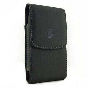 Black-Leather-Case-Side-Cover-Belt-Holster-for-Cell-Phones
