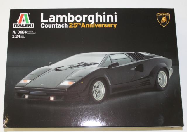 Italeri Lamborghini Countach 25th Anniversary In 1 24 3684 St For