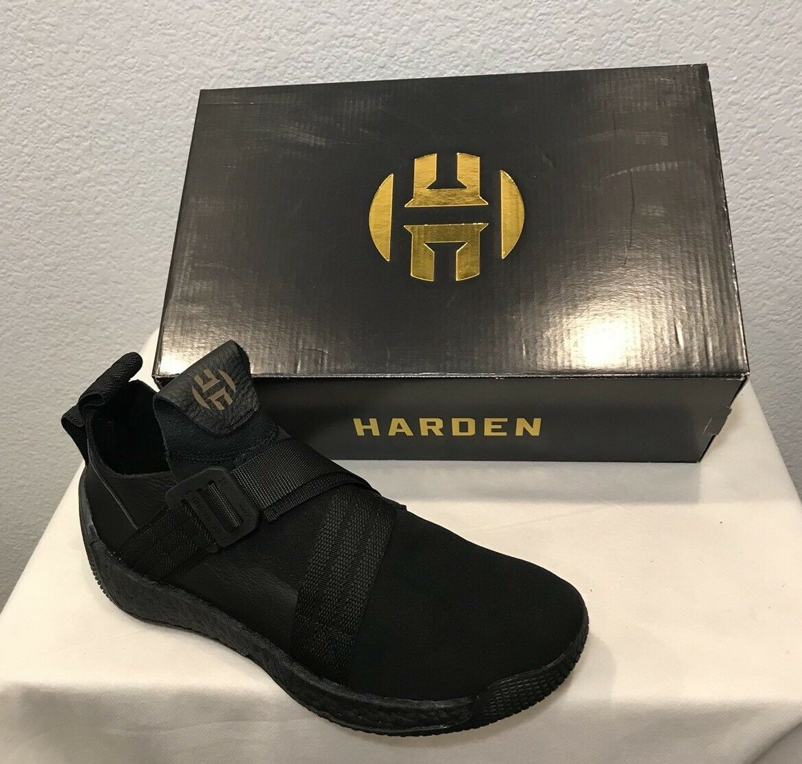 NEW ADIDAS HARDEN LS 2 BUCKLE SHOESBLACK (F33831) MEN'S SIZE 10.5