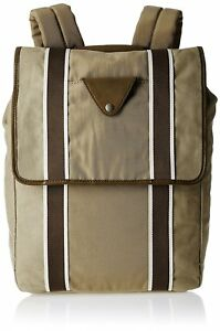 NEW-FOSSIL-LANE-RUCHSACK-KHAKI-BROWN-CANVAS-LEATHER-TOP-FLAP-BACKPACK-BAG