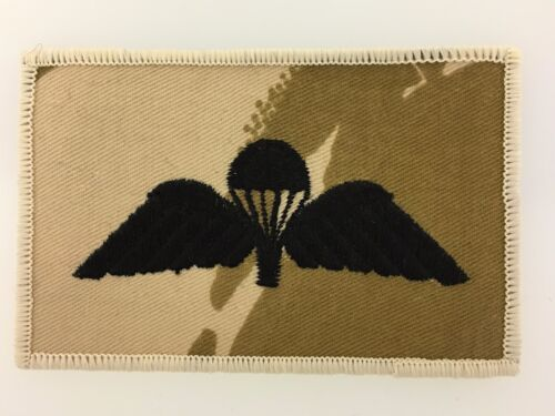 1990s desert camo patch style badge British Army Paratroopers cloth jump wings