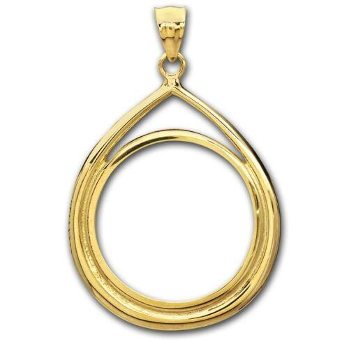 14~KT SOLID GOLD ~ FOR 1//10~OZ GOLD EAGLE ~ TEAR DROP  BEZEL ~3.0 GRAMS~ $178.88