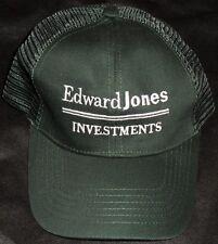 Edward Jones Investments Green Snap Back Trucker Baseball Cap