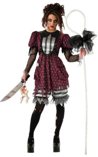 LADIES LIL BO CREEP SHEPHERD HALLOWEEN ZOMBIE COSTUME ADULT FANCY DRESS OUTFIT