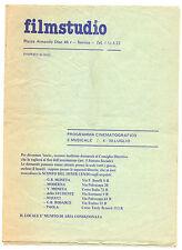 Programma Proiezioni Cinema Program Projections-Cinema  filmstudio Savona 1977