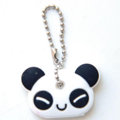Silicone Cute Panda Key Cover Key Cap Keyrings Keychain Phone Strap Pedants Girl