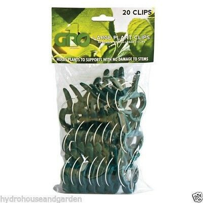 Gro1 Small Plant Clips 50 Pack Spring Loaded Plant Support Clips Grow 1
