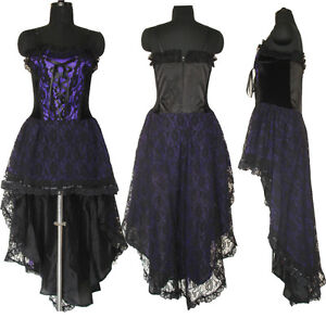 Gothic Corset Wedding Dress Prom Purple Halloween Custom Made US ...