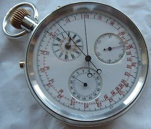 Smith-amp-Son-Chronograph-Rattrapante-Pocket-Watch-Silver-Case-54-5-mm-in-diameter