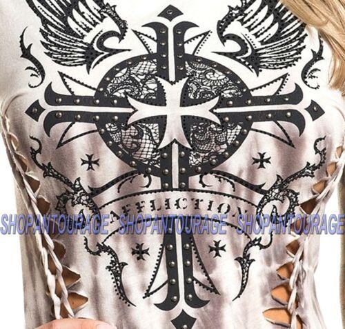 Affliction Margo Love AW20259 New Fashion Manches Courtes Encolure Dégagée Haut Pour Femmes