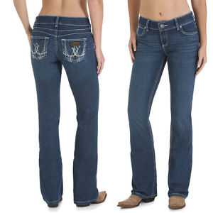6668e8e1 WRANGLER Women's RETRO Mae BOOTY UP Boot Cut Stretch Mid-Rise Jeans ...
