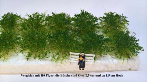 Büsche 10 Stück H0//TT Mittelgrün