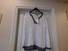 Chico's Capri Mesh Tunic / sweater 100% cotton Size 2