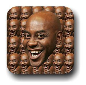 s l300 ainsley harriott face everywhere internet meme drink coaster, gift