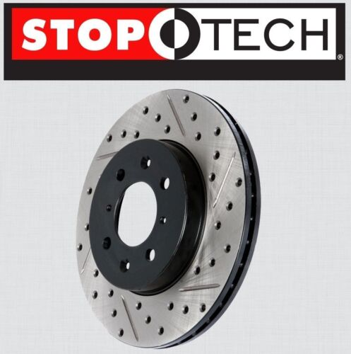 LEFT /& RIGHT REAR Stoptech SportStop Drilled Slotted Brake Rotors STR44120