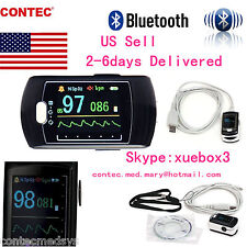 US-CONTEC  Sleep study Finger Pulse Oximeter SPO2 PR,Software+Bluetooth CMS50EW