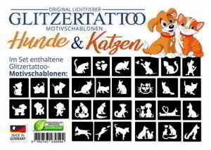 glitzertattoos hunde katzen motive f r glitzer tattoo. Black Bedroom Furniture Sets. Home Design Ideas