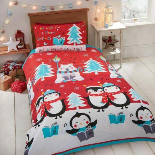 Kids Single Christmas Duvet//Quilt Cover Set