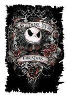 Nightmare Before Christmas Iron On T Shirt Pillowcase Fabric Transfer Set 109