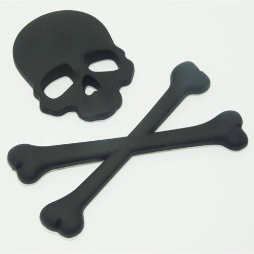 NEW 3D Metal Car Sticker Skull Skeleton Motorcycle Logo Badge Emblem Auto Decals
