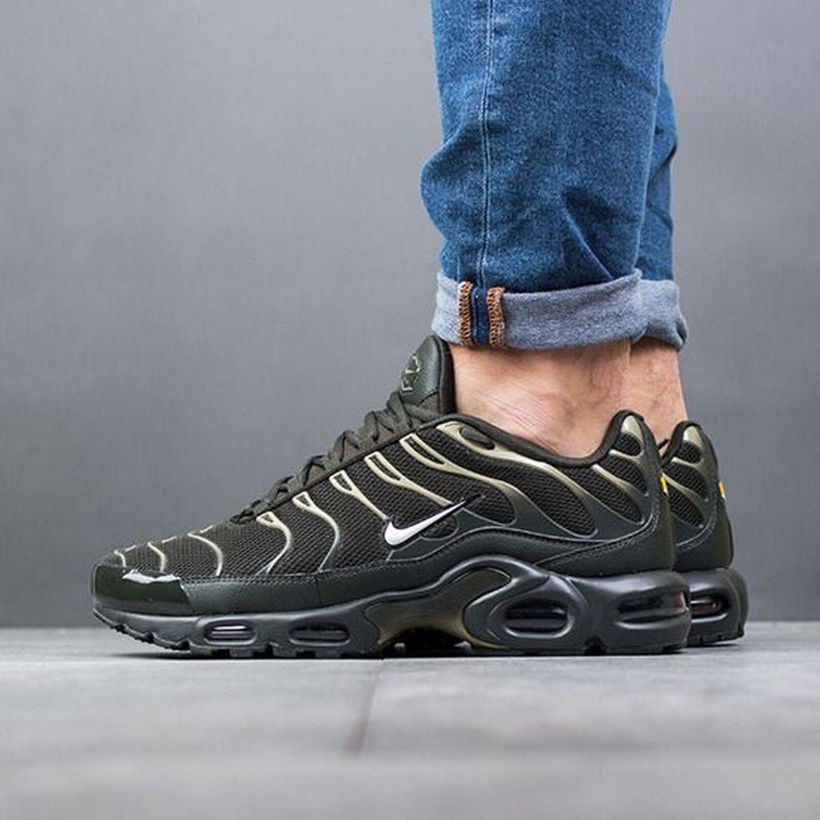 Nike Air Max PLUS Sequoia White Neutral 8.5 Olive Running Mens Sz 8.5 Neutral 852630 301 92aa35