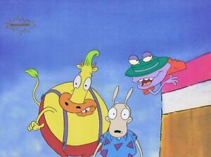 ROCKO'S MODERN LIFE ORIGINAL 1990'S PAINTED PRODUCTION CEL CARNIVAL