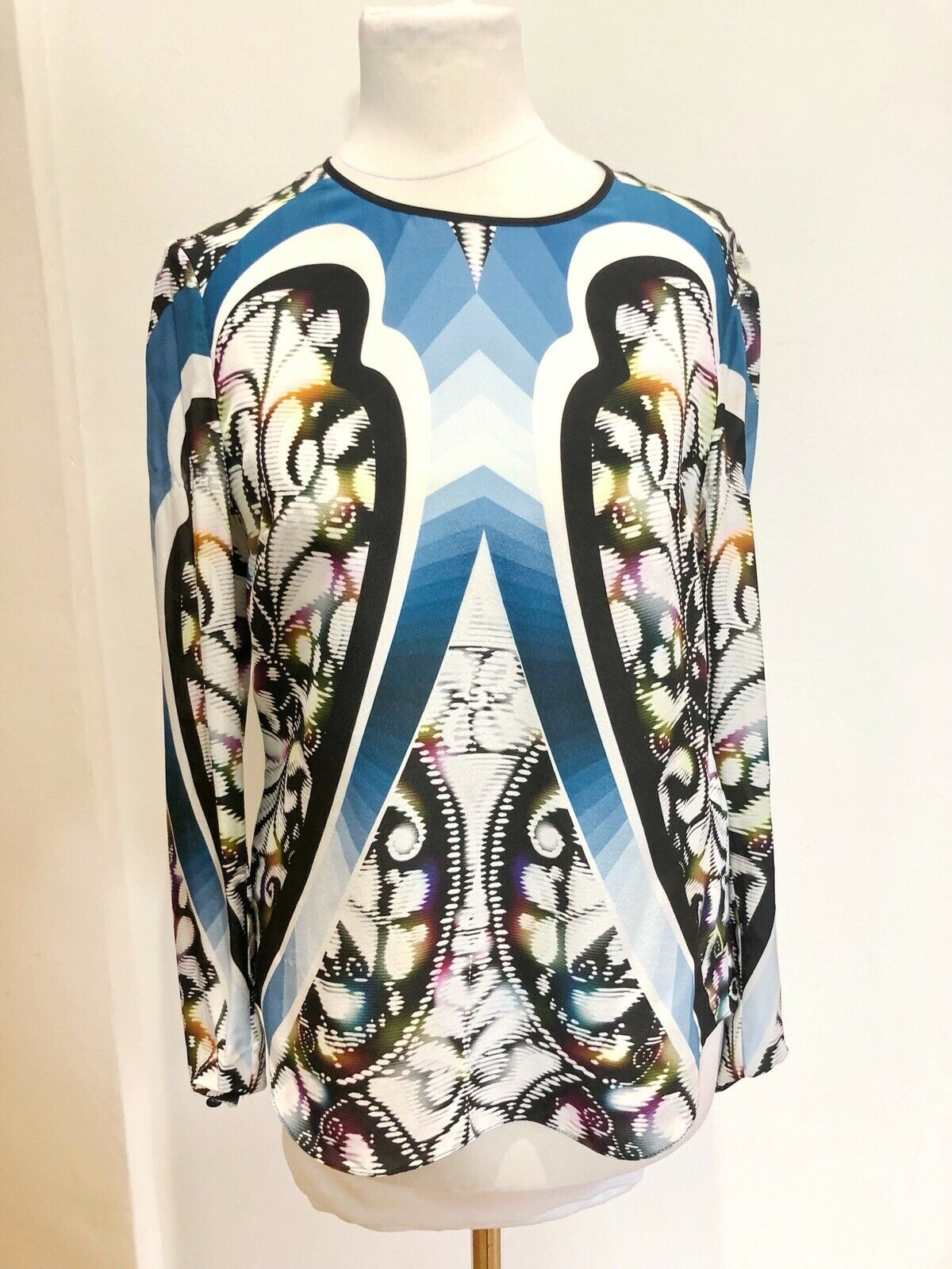 Peter Pilotto Silk Multicolour Blau Blouse