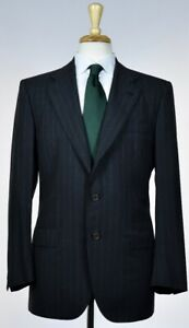 KITON-Mens-Bespoke-3-Roll-2-Button-Superfine-Wool-Suit-Size-38-48-NEW-7500